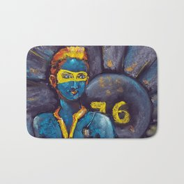 Fallout 76 - the girl from the shelter. Pastel drawing Bath Mat