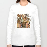 angels Long Sleeve T-shirts featuring Angels by Vesna Bursich