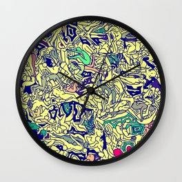 Kamasutra LOVE - Piss Yellow Wall Clock