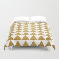 golden Duvet Covers featuring Golden by Sandra Arduini