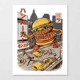 Burger Zilla Canvas Print