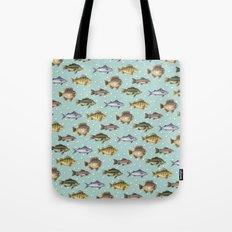 Watercolor Fish Tote Bag
