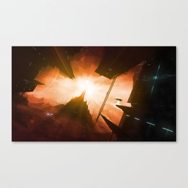 I saw the suns of skyland Canvas Print