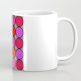 Polka Brights (pink/red) Coffee Mug