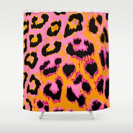 Gold and Pink Leopard Spots Shower Curtain