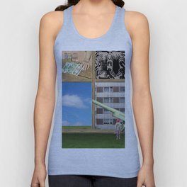 An der Schwelle zur Freiheit · a day with Magritte 1 Unisex Tank Top