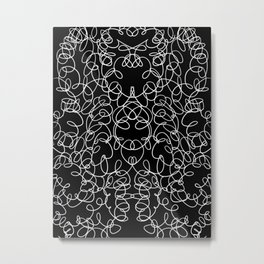 Rorschach Curves V5 Metal Print