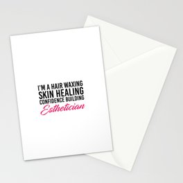 Dedicated esthetician. Nail polish artist. make up woman, hairdresser Stationery Cards