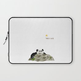 Panda - Make a wish Laptop Sleeve