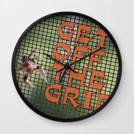 "Spider ""Get Off The Grid!"" Wall Clock"