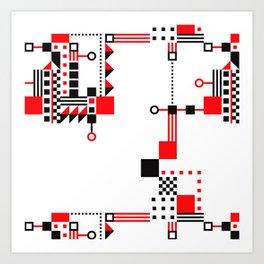 Tekno Abstrakt Art Print