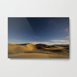 Sand Dunes & Night Sky Metal Print