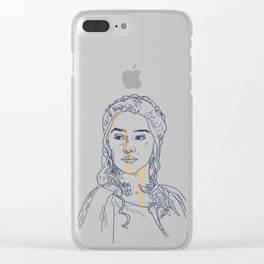 MOTHER OF DRAGONS Clear iPhone Case