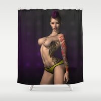 punk rock Shower Curtains featuring Punk Rock by gypsykissphotography