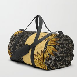 Animal Print Brown and Gold Animal Medallion Duffle Bag