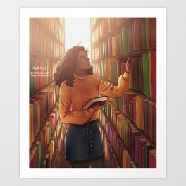 Books and cleverness Art Print