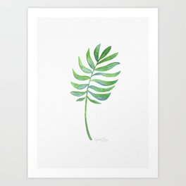 Tropical Palm Leaf Art Print