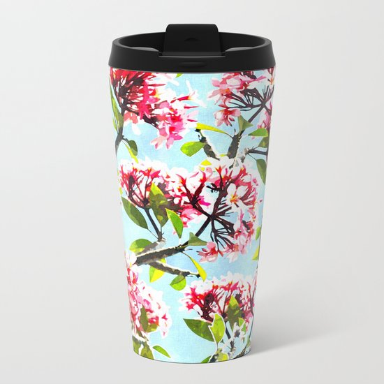 Frangipani #society6 #decor #buyart Metal Travel Mug