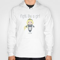 starcraft Hoodies featuring Fight Like a Girl - Nova | Starcraft | Heroes of the Storm by ~ isa ~