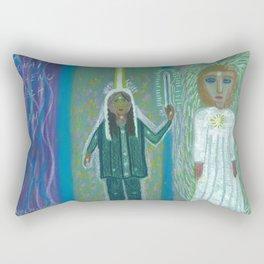 Angel and Me Rectangular Pillow