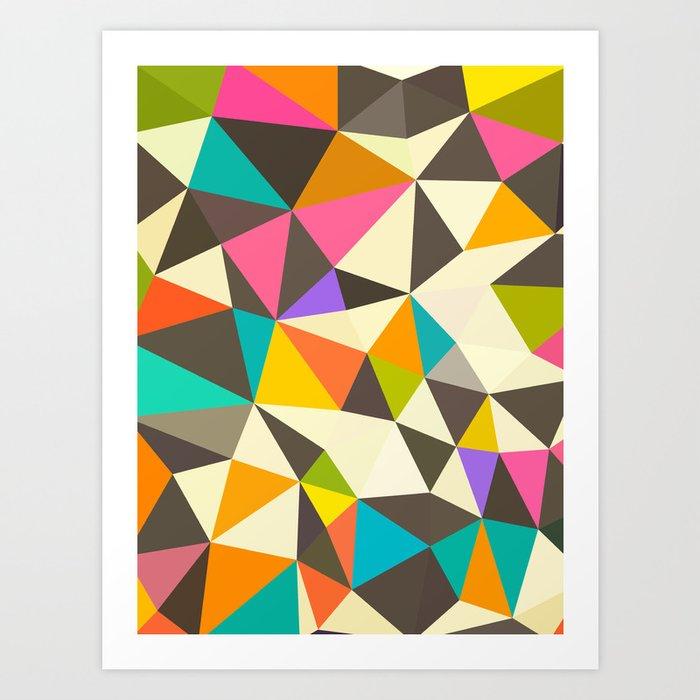 Mod Tris Art Print