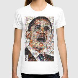 BEHIND THE FACE Obama   Superheroes & Comics T-shirt