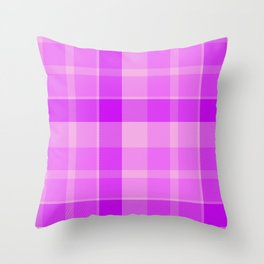 Shotland pink texture Throw Pillow