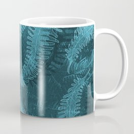 Ferns (light) abstract design Coffee Mug