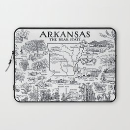 Vintage Map of Arkansas (1912) Laptop Sleeve