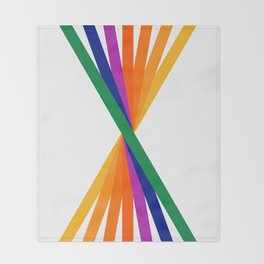 Rainbow Stix Throw Blanket