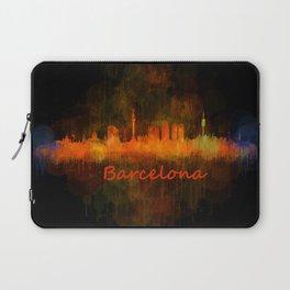 Barcelona City Skyline Hq _v4 Laptop Sleeve