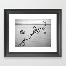 Curly Vine Growing by the Lakeshore Framed Art Print