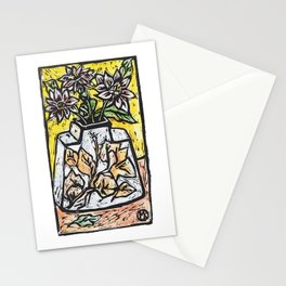 Dahlias in Malaysian Vase Stationery Cards