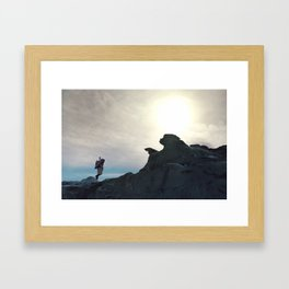 One Small Step Framed Art Print