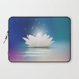Elegant Gentle  White  Lotus / Lily flower Laptop Sleeve