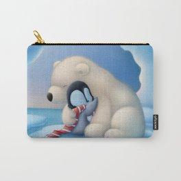 Cute Polar Bear and Penguin Carry-All Pouch