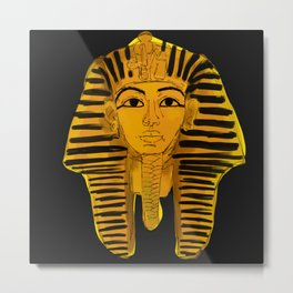 Ancient Egypt Black Painting Metal Print
