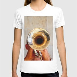 Blowing Jazz On A Rainy Day T-shirt