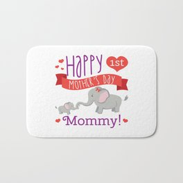 Happy Mothers Day Message Best Mom Elephant Gift Bath Mat