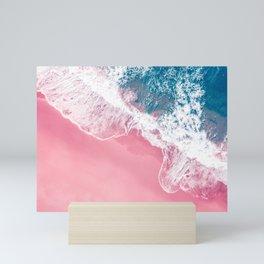 Aerial Pink Beach Mini Art Print