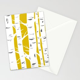 Mustard Birches Stationery Cards