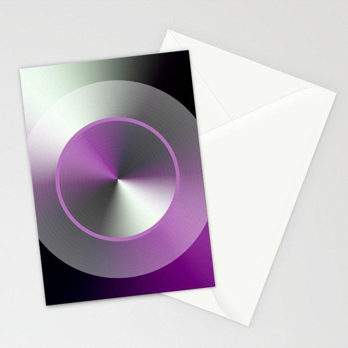 Serene Simple Hub Cap in Purple Stationery Cards