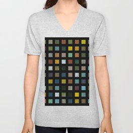 Rustic Wooden Abstract lV Unisex V-Neck