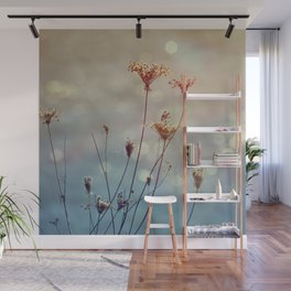 Soft Queen Anne's Lace and Bokeh Wall Mural