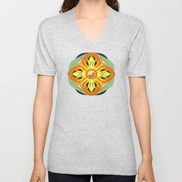 llama mandala pattern Unisex V-Neck