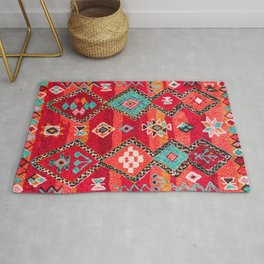 N197 - Red Oriental Heritage Bohemian Traditional Moroccan Style Rug