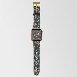 Spring Bloom Black Apple Watch Band