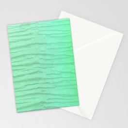 Abstract Pattern In Green Washed Out Iridescent Color Stationery Cards