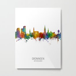 Groningen The Netherlands Skyline Metal Print