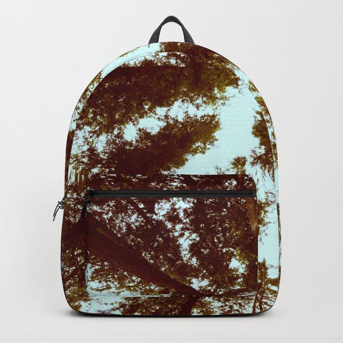 Forest Sky Vintage Trees Backpack